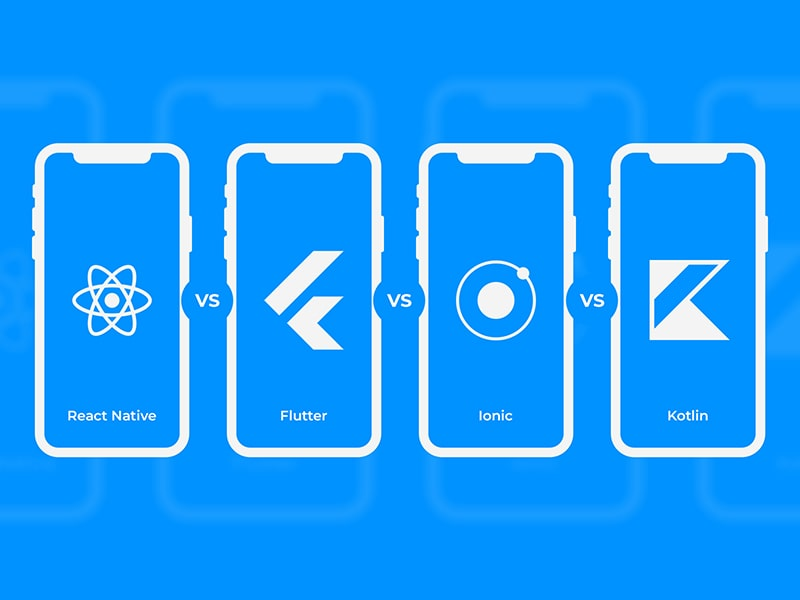 Comparing React Native vs Flutter vs Ionic vs Kotlin for Mobile App Development