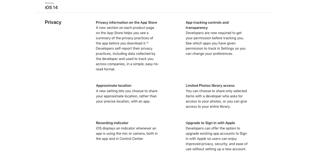 iOS 14 Privacy and Security Features