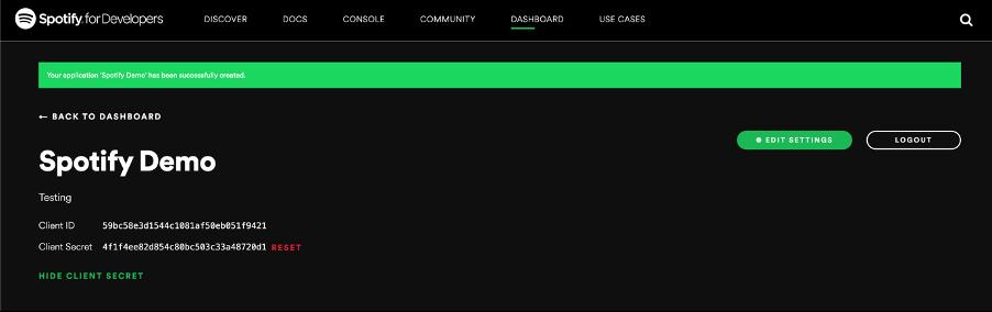 Spotify Demo